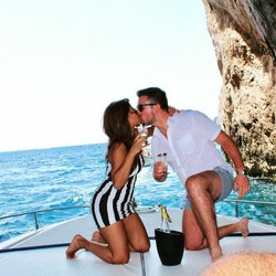 Meet Radcliffe Couple:  Rose + Gianluca, a proposal on the Mediterranean Sea