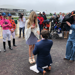 Meet Radcliffe Couple: Olivia + Kevin, a perfect Preakness proposal
